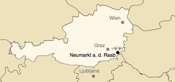 Österreichkarte mit Neumarkt