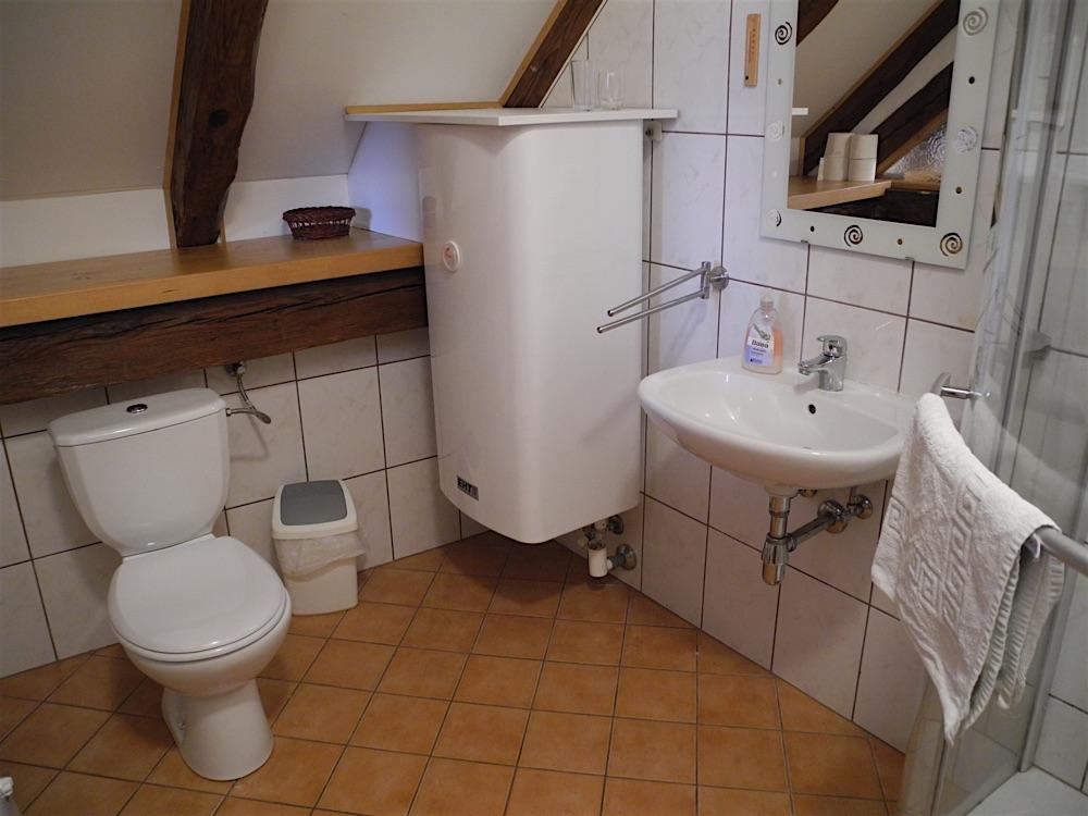 Luishaus / Kupferstich Zimmer / Bad