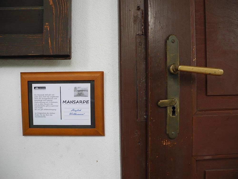 Mansarde Eingang